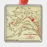 Mapa panorámico de Alaska Ornamentos De Reyes Magos