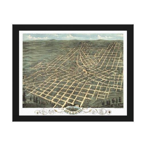 Mapa panorámico de Atlanta GA DIGITAL VUELTO A MEZ Impresion De Lienzo
