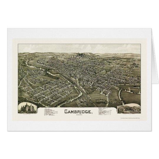 Mapa panorámico de Cambridge, OH - 1897 Tarjeta De Felicitación