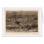 Mapa panorámico de Chicago, IL - 1874 Tarjeta De Felicitación