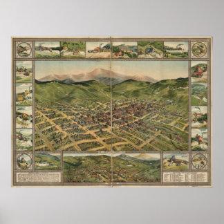 Mapa panorámico de Colorado 1896 de la cala del li Impresiones