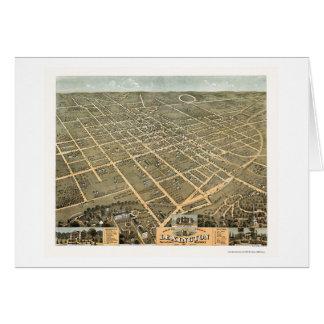 Mapa panorámico de Lexington, KY - 1871 Tarjeta De Felicitación