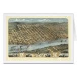 Mapa panorámico de Little Rock, Arkansas - 1871 Tarjeta De Felicitación