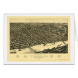 Mapa panorámico de Little Rock, Arkansas - 1887 Tarjeta De Felicitación