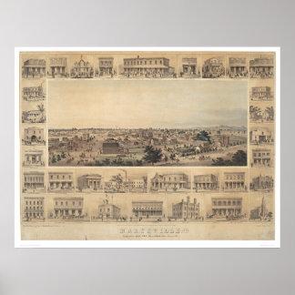 Mapa panorámico de Marysville, California (2505A) Posters