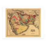 """Mapa panorámico de Oriente Medio """"Persia Arabia """" Tarjetas Postales"""