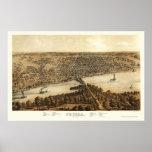 Mapa panorámico de Peoria, IL - 1867 Impresiones