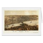 Mapa panorámico de Peoria, IL - 1867 Tarjeta De Felicitación