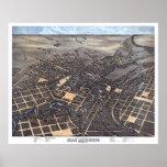Mapa panorámico de San Antonio TX DIGITAL VUELTO A Impresiones