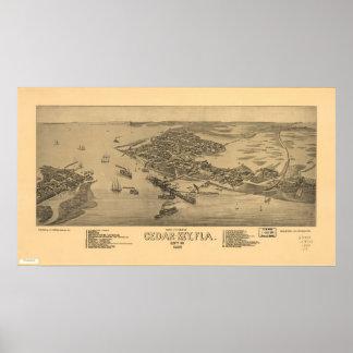 Mapa panorámico dominante 1884 de la opinión de oj impresiones
