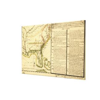 Mapa panorámico (lengua española) impresión en lienzo