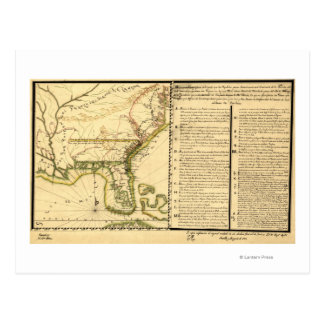 Mapa panorámico (lengua española) postal