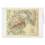 Mapa panorámico nacional de ParkTopographic del Ac Tarjeta De Felicitación