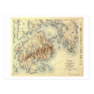 Mapa panorámico nacional de ParkTopographic del Ac Tarjetas Postales