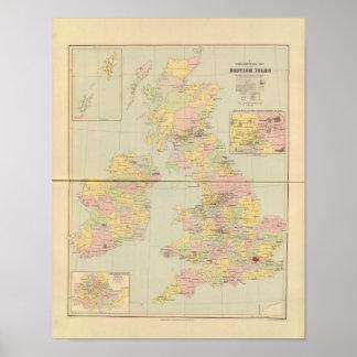 Mapa parlamentario, islas británicas póster
