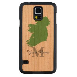 Mapa personalizado de Irlanda con monograma Funda De Galaxy S5 Slim Cerezo