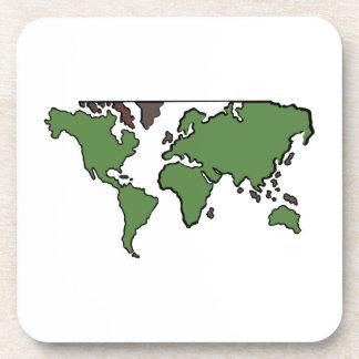 Mapa plano de los continentes posavasos