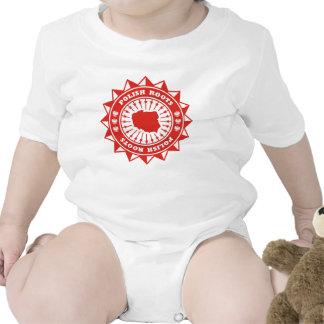 Mapa polaco de las raíces traje de bebé
