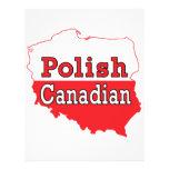 Mapa polaco del polaco del canadiense tarjetas publicitarias