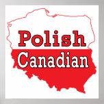 Mapa polaco del polaco del canadiense posters