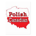 Mapa polaco del polaco del canadiense tarjeta postal
