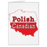 Mapa polaco del polaco del canadiense tarjetas