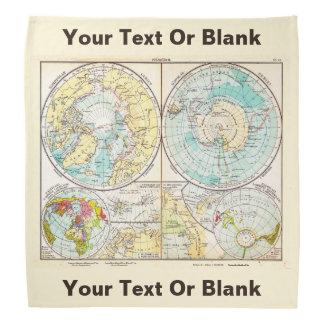 Mapa polar de lengua alemana bandanas