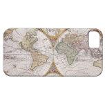 Mapa polar del hemisferio doble iPhone 5 funda