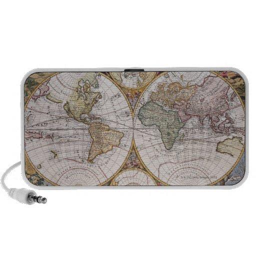 Mapa polar del hemisferio doble laptop altavoz