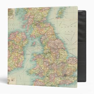 """Mapa político de las islas británicas carpeta 1 1/2"""""""