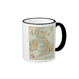 Mapa político de las islas británicas taza de dos colores
