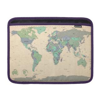 Mapa político del mapa del mundo funda para macbook air