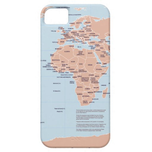 Mapa político del mundo iPhone 5 Case-Mate carcasa