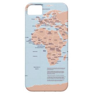 Mapa político del mundo iPhone 5 fundas