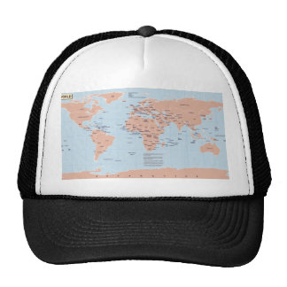 Mapa político del mundo gorras de camionero