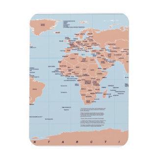 Mapa político del mundo imanes