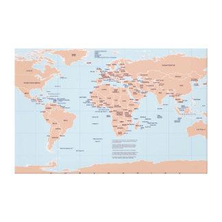 Mapa político del mundo lona estirada galerías