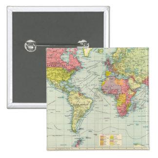 Mapa político del mundo pin