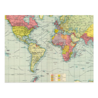 Mapa político del mundo postales