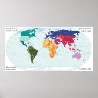 Mapa político del mundo posters