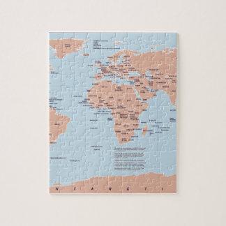 Mapa político del mundo rompecabezas con fotos