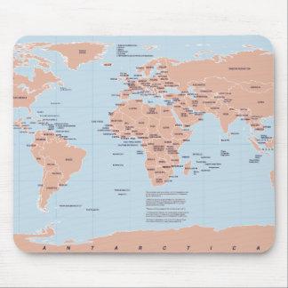 Mapa político del mundo alfombrillas de ratón