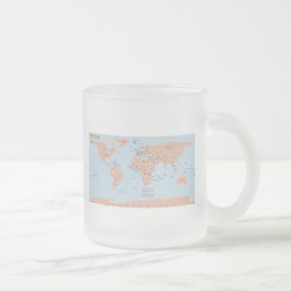Mapa político del mundo taza cristal mate