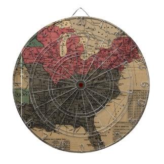 Mapa político del vintage de los Estados Unidos Tablero De Dardos