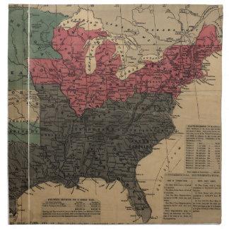 Mapa político del vintage de los Estados Unidos Servilleta