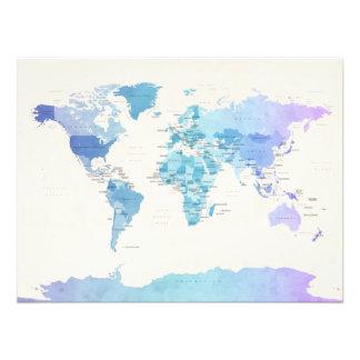 Mapa político del Watercolour del mundo Fotografías
