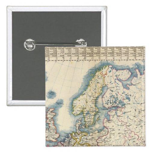 Mapa político militar de Europa Pin