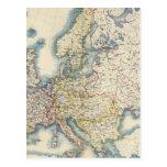 Mapa político militar de Europa Postal