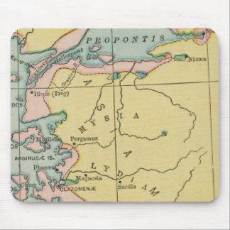 Mapa Propontis Mysia Lydia Grecia del vintage Alfombrillas De Raton
