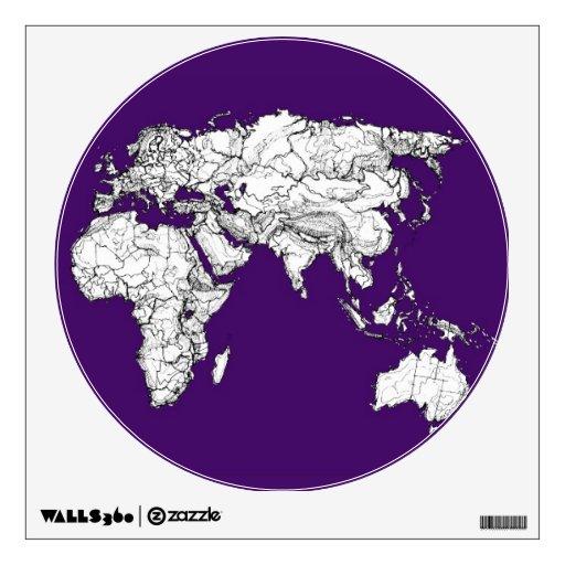 Mapa púrpura oscuro vinilo